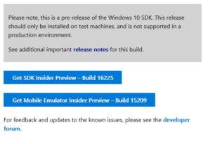 Windows 10 16225 SDK, WDK, ADK und HLK stehen zum Download bereit