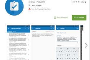 Clipboard Manager Pro heute kostenlos für Android – 1,89 Euro sparen