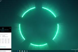 Cortana Visualizations Windows 10 Theme aus dem Windows Store