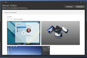 Windows 10 Foto App – Video aus Bildern und Videos erstellen ist nun möglich