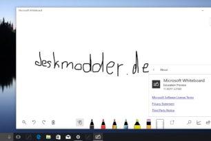 Microsoft Whiteboard – Neue Version ins Netz gelangt