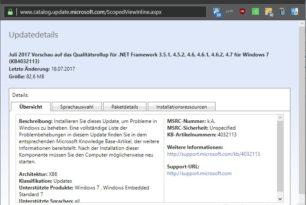 .NET Framework Preview Updates Juli 2017 (Qualitätsrollup)