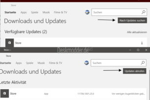 Windows 10 und Mobile Store App mit einem Update