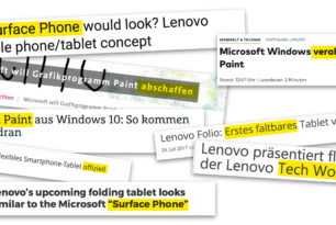 Das faltbare Surface Phone kommt ohne Paint!