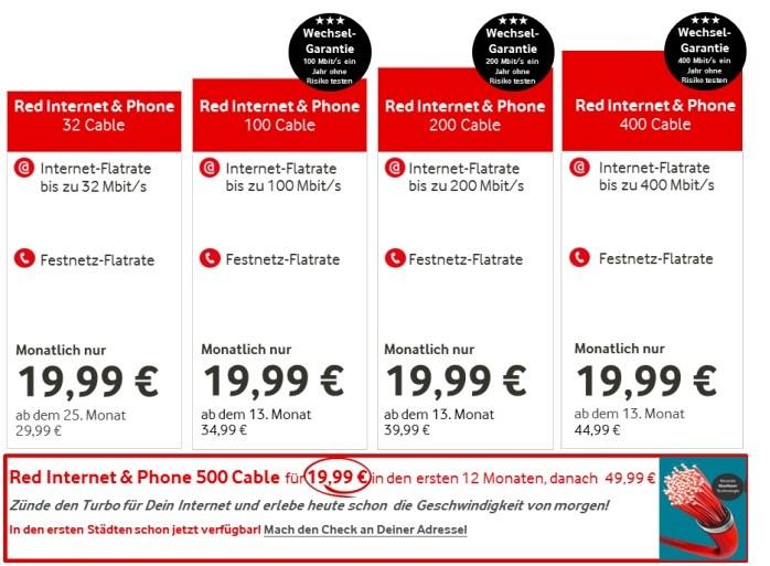 Mbit/s: Vodafone bringt halbes Gigabit in Privathaushalte