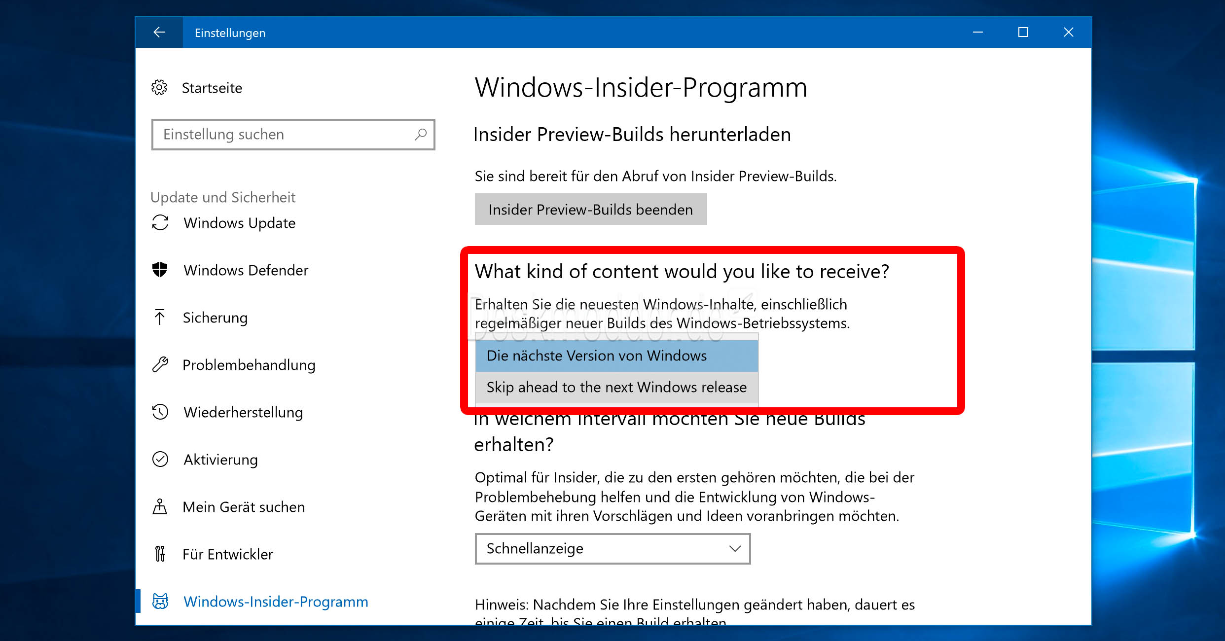 Microsoft windows 10 windows 10 fall creators update windows insider - Windows 10 Insider Microsoft F 252 Hrt Quot Fast Ring Vom Fast