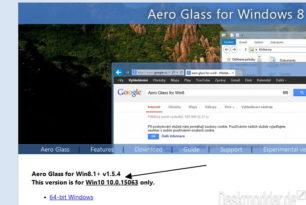 Aero Glass 1.5.4 (Final) für die Windows 10 15063 (Creators Update)