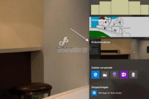 Bildschirmskizze direkt aus der Taskleiste oder Startmenü starten