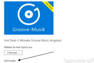 "Groove Music Pass für 3 Monate für nur 200 ""Bing""-Punkte (Microsoft Rewards) [Update]"