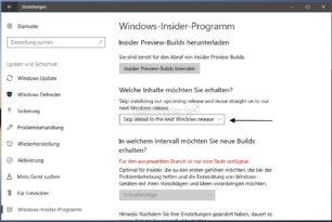 Skip Ahead funktioniert wieder in der Windows 10 Insider (RS3 – RS4)