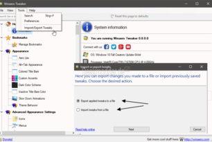 Winaero Tweaker 0.8 Änderungen lassen sich nun exportieren / importieren