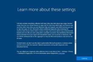 Datenschutzeinstellungen werden in der Windows 10 1709 verbessert