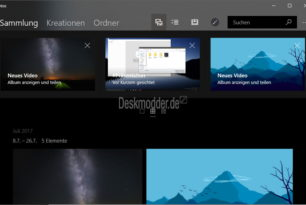 Windows 10 Insider (RS4) Fotos App mit einem Update (Spezielle Funktionen)