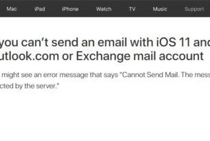 iOS 11 – Senden und Beantworten von Mails über Outlook.com, Office 365 nicht möglich [Workaround]