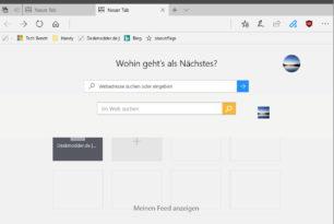 Microsoft Edge: Zweite Suchleiste in der Startseite entfernen [Update]