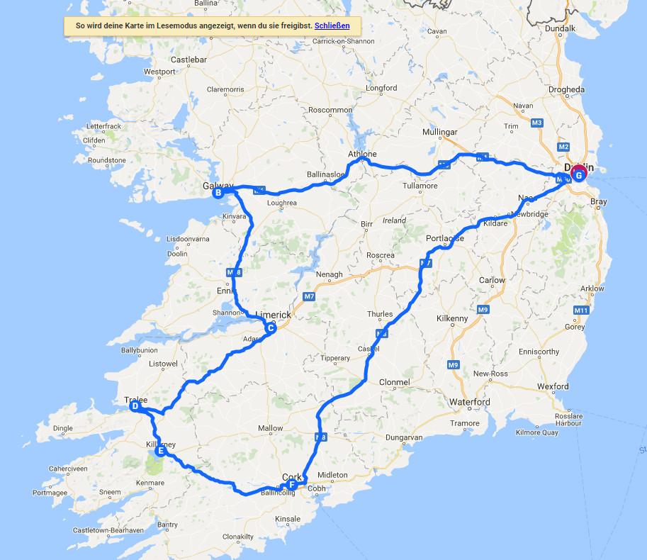 Irland Karte Rundreise.Reisen Dokumentieren Mit Google My Maps Deskmodder De
