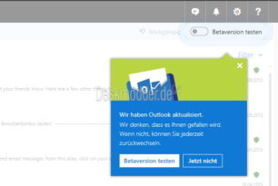 Outlook.com Beta-Test nun für alle verfügbar