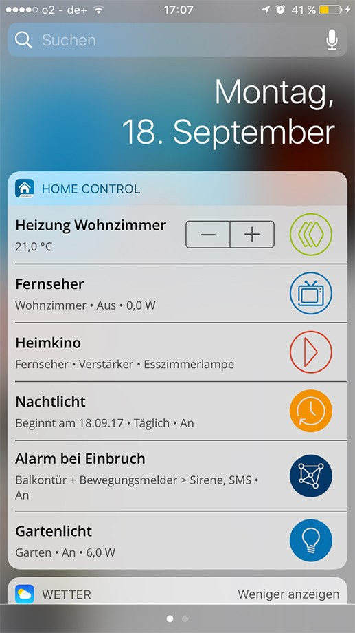 devolo home control app update f r ios liefert neue funktionen. Black Bedroom Furniture Sets. Home Design Ideas