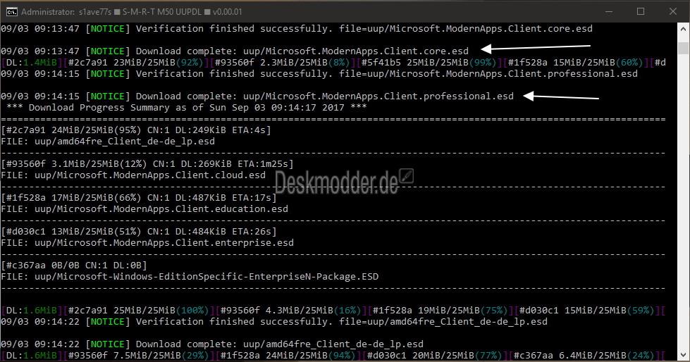 M50 UUPDL - Alles in einer ISO (oder einzeln) aus UUPs erstellen ...