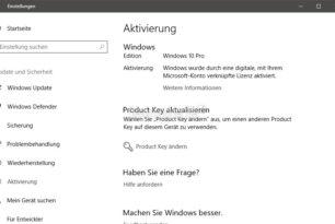 Windows 10 mit Windows 7 Key aktivieren funktioniert weiterhin