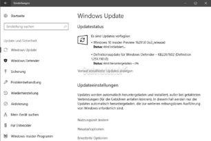Windows 10 16291 (RS3) steht jetzt für die Insider im Slow Ring bereit