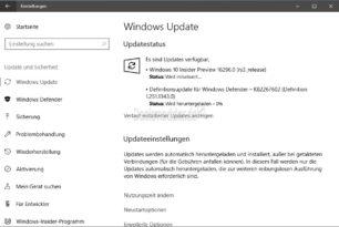 Windows 10 16296 (RS3) steht für die Insider im Fast Ring bereit