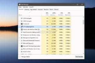 CTF-Ladeprogramm (ctfmon.exe) startet permanent mit der Windows 10 1709 Fall Creators Update