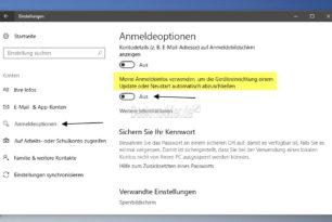 Doppelte Anmeldung auch mit PIN (Anmeldebildschirm) in der Windows 10 1709 Fall Creators Update