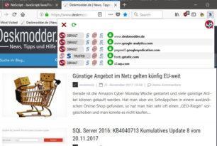 NoScript 10 Firefox WebExtension steht zum Download bereit