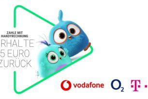 O2, Vodafone, Telekom – 5 Euro beim Zahlen via Handyrechnung im Google Play Store