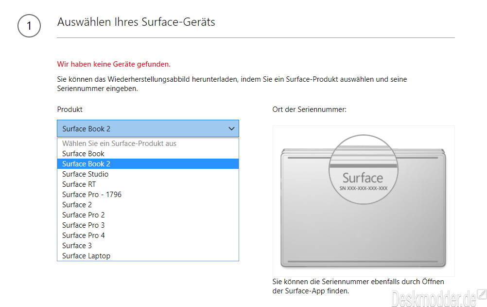surface pro recovery download