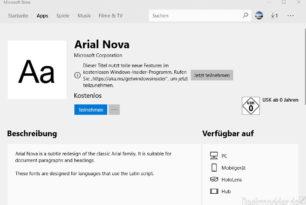 Schriftarten (Fonts) kommen nun auch in den Microsoft Store