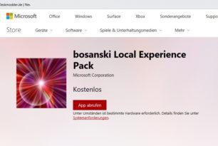 Sprachpakete tauchen im Microsoft Store auf für Windows 10 RS4