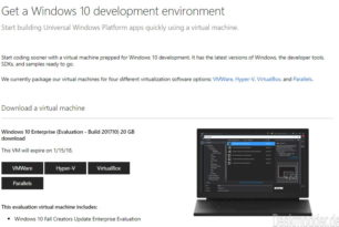 Windows 10 Enterprise 16299.15 als virtuelle Maschine für VMWare, VirtualBox, Hyper-V oder Parallels
