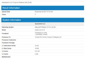 Windows 10 On ARM verschiedene Benchmarks mit solider Leistung