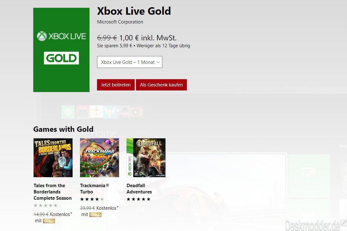 Xbox live geschenk
