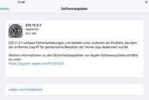 Apple – iOS 11.2.1 veröffentlicht – Fehlerbehebungen und Co.