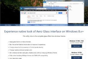 Aero Glass 1.5.7 (Final) für Windows 10 1709 16299 steht zum Download bereit