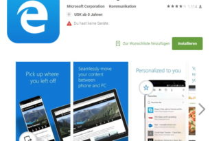 Android: Microsoft Edge mit mehr als 1 Million Downloads