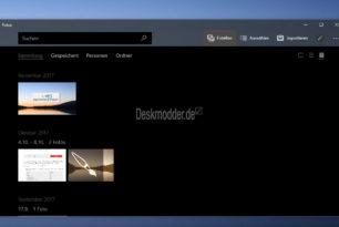 Microsoft Fotos App mit einem Update und neuer UI-Aufteilung