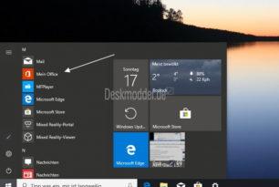 Mein Office (My Office) doppelt im Startmenü von Windows 10 (Workaround)