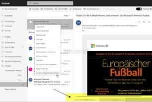Outlook Webmail (Beta) jetzt auch mit Tabs für einzelne Mails