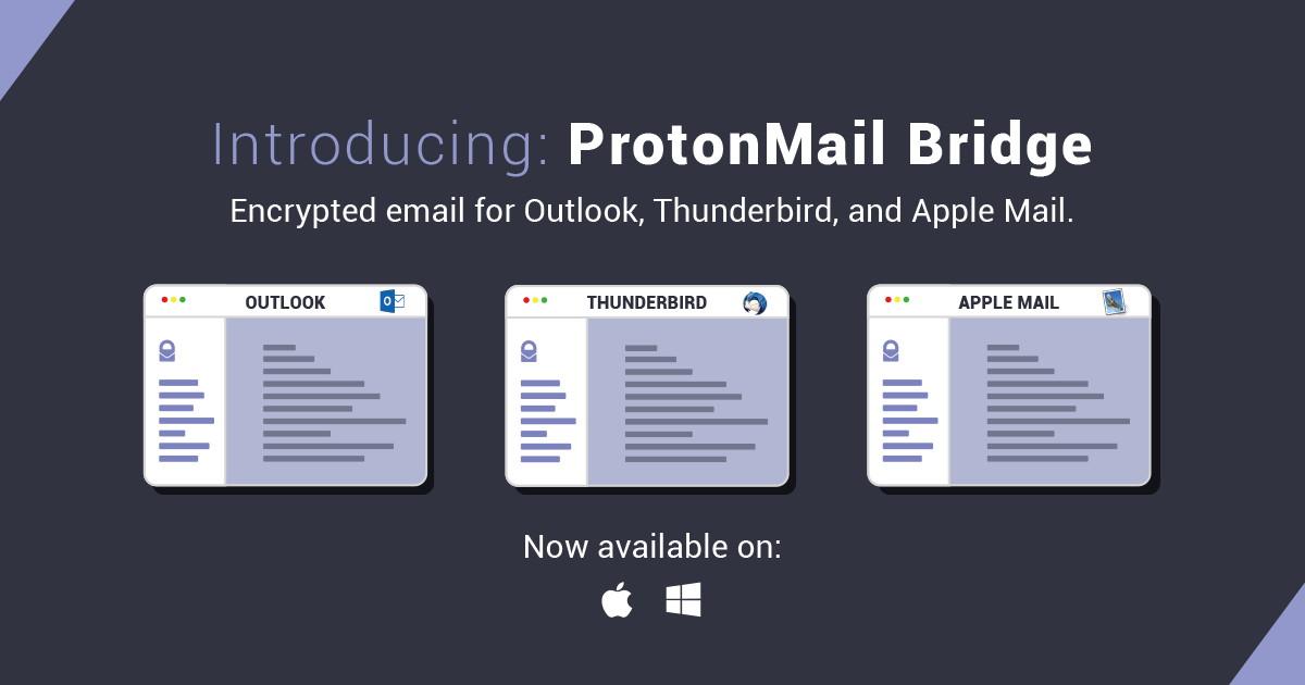 ProtonMail öffnet sich Mail-Clients
