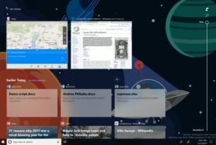 Windows Timeline im Video zu sehen