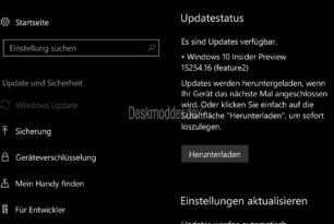 Windows 10 Mobile 15254.16 und 15254.124 (Changelog) wurde bereitgestellt