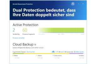 Acronis Ransomware Protection als Freeversion mit 5 GB Cloudspeicher