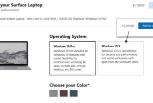 Surface Laptop nun auch direkt mit Windows 10 Pro erhältlich