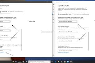 Defender Exploit Schutz in der Windows 10 16299.248 per Standard deaktiviert
