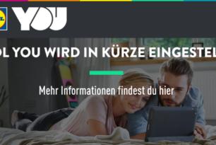 Lidl YOU: Lidl beendet Angebot von Deezer & Maxdome zum 31.März 2018