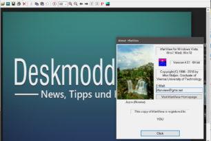 IrfanView 4.51 ist erschienen – Bildbetrachter mit vielen zusätzlichen Funktionen